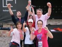 participants celebrating in our Amazing race Melbourne