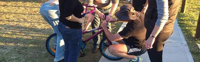 Charity Bike Build team building activity