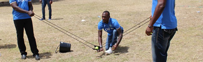 West Indies cricket team members enjoy our Carnivale team building activity