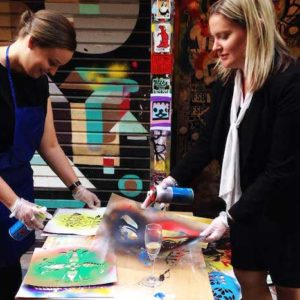 Street art stencil workshop - team building activity for small groups
