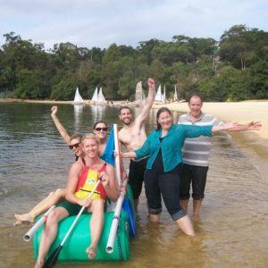 Raft Regatta - problem solving teambuilding event Canberra