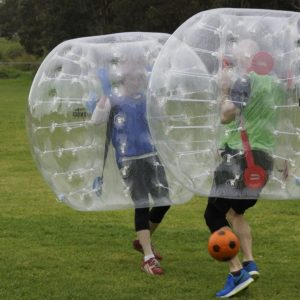 Bubble soccer - team building activities events on a budget