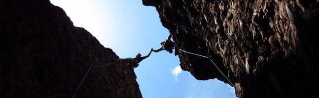 Rock climbing team building activity